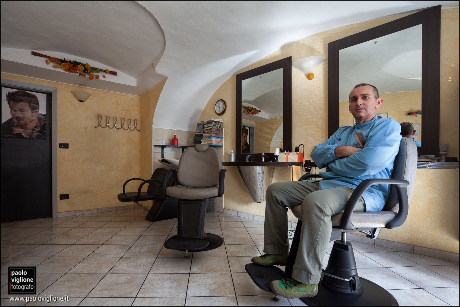 Ezio Bailo, barbiere, Dronero